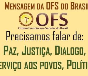 Mensagem da OFS do Brasil a todos os irmãos e irmãs